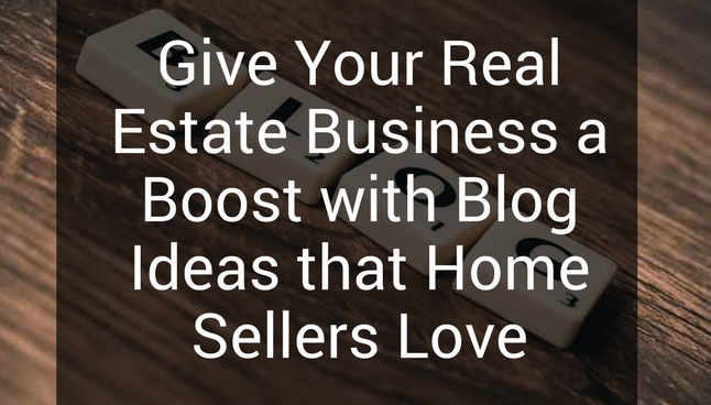 real estate blog ideas